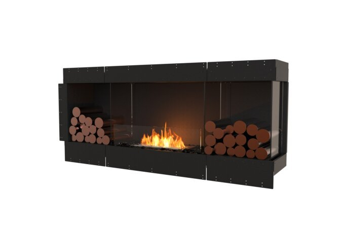 Flex 68RC.BX2 Right Corner - Ethanol / Black / Uninstalled View by EcoSmart Fire