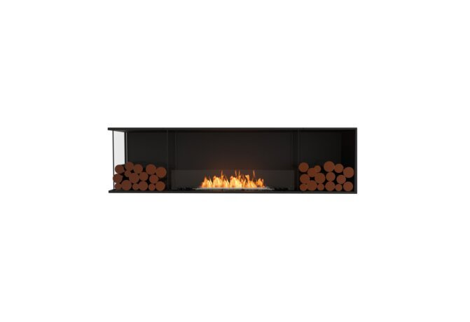 Flex 78LC.BX2 Left Corner - Ethanol / Black / Installed View by EcoSmart Fire