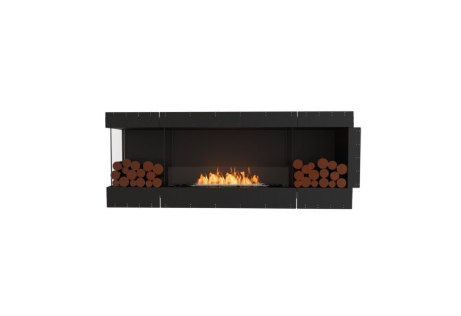 Flex 78LC.BX2 Left Corner - Ethanol / Black / Uninstalled View by EcoSmart Fire