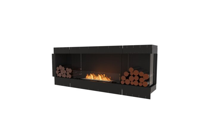 Flex 78RC.BX2 Right Corner - Ethanol / Black / Uninstalled View by EcoSmart Fire