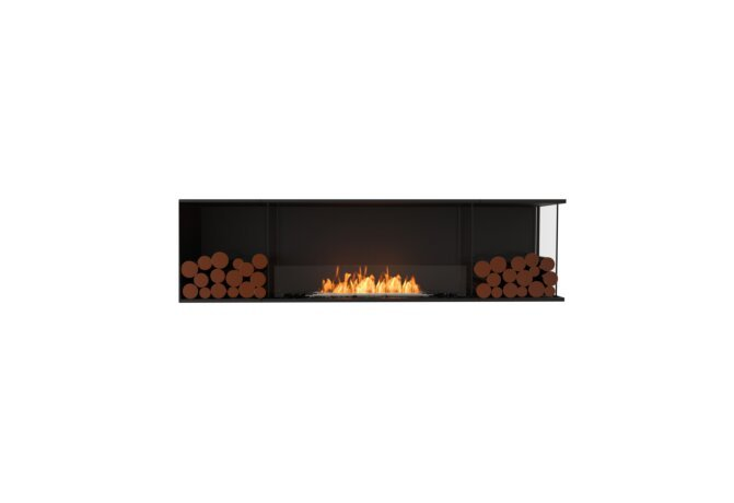 Flex 78RC.BX2 Right Corner - Ethanol / Black / Installed View by EcoSmart Fire