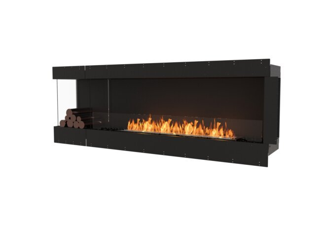 Flex 86LC.BXL Left Corner - Ethanol / Black / Uninstalled View by EcoSmart Fire