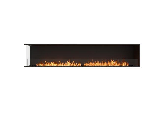 Flex 104LC Left Corner - Ethanol / Black / Installed View by EcoSmart Fire