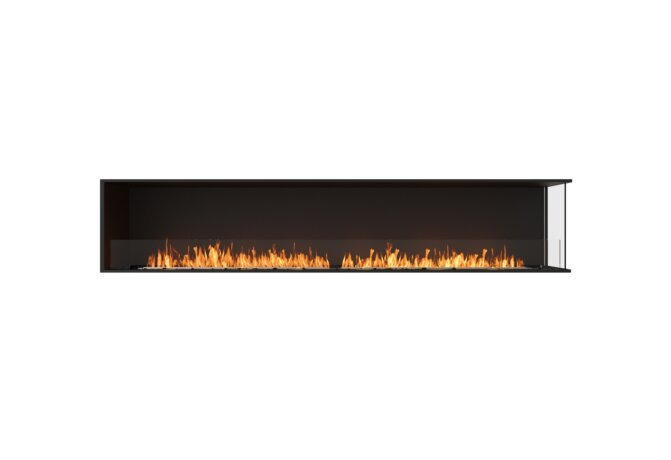 Flex 104RC Right Corner - Ethanol / Black / Installed View by EcoSmart Fire