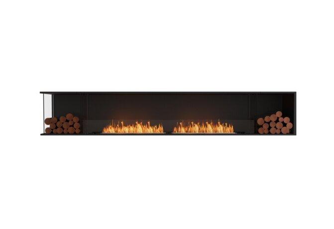 Flex 122LC.BX2 Left Corner - Ethanol / Black / Installed View by EcoSmart Fire