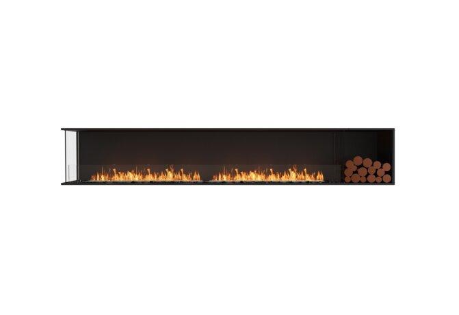 Flex 122LC.BXR Left Corner - Ethanol / Black / Installed View by EcoSmart Fire
