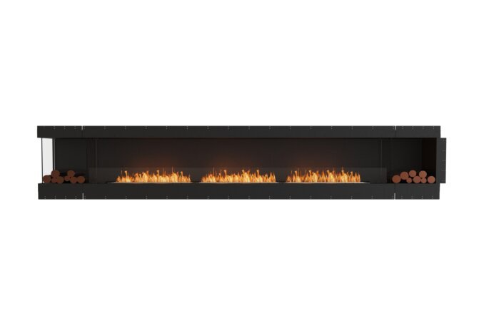 Flex 158LC.BX2 Left Corner - Ethanol / Black / Uninstalled View by EcoSmart Fire