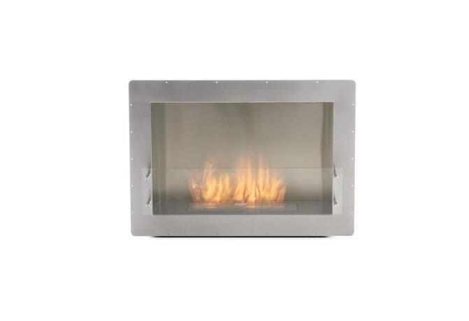 Firebox 800SS Fireplace Insert - Ethanol / Stainless Steel / Front View by EcoSmart Fire