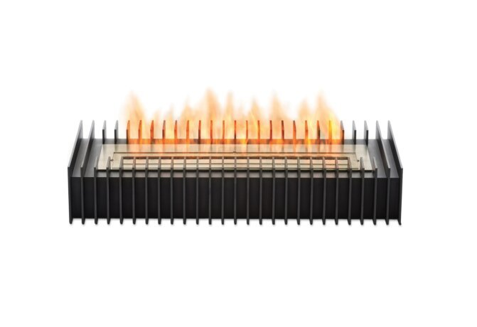 Scope 700 Fireplace Insert - Ethanol / Black / Front View by EcoSmart Fire