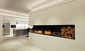 Flex 122LC.BXR Left Corner - In-Situ Image by EcoSmart Fire