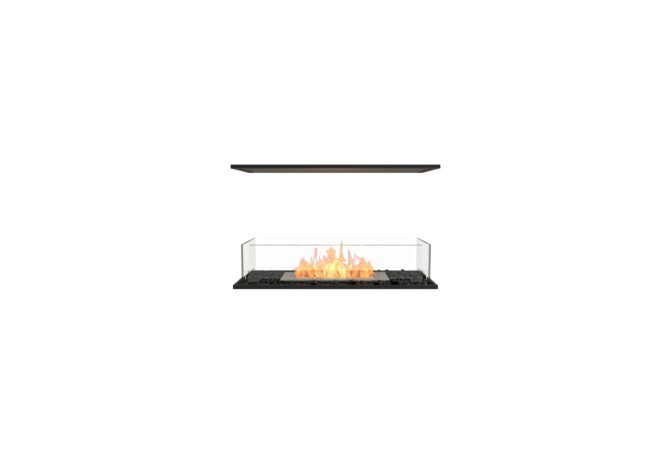 Flex 32IL Island - Ethanol / Black / Installed View by EcoSmart Fire