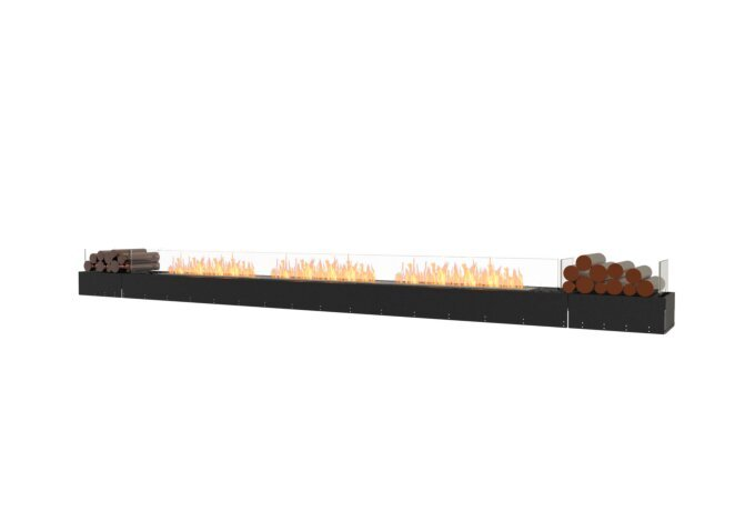 Flex 158BN.BX2 Bench - Ethanol / Black / Uninstalled View by EcoSmart Fire
