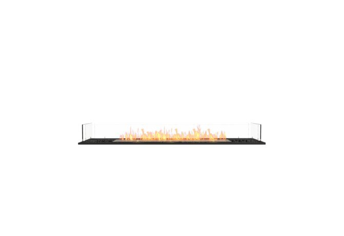 Flex 68BN Bench - Ethanol / Black / Installed View by EcoSmart Fire