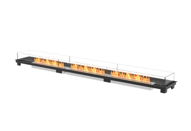 Linear 130 Fire Pit Kit - Ethanol / Black by EcoSmart Fire