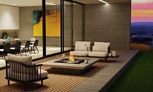 Square 22 Modern Fireplace - In-Situ Image by EcoSmart Fire