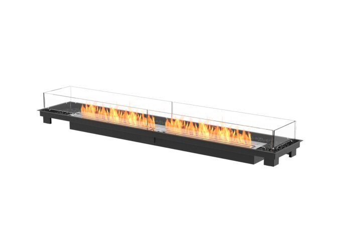 Linear 90 Fire Pit Kit - Ethanol / Black / Indoor Safety Tray by EcoSmart Fire