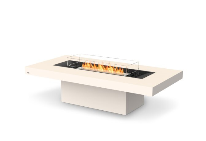 Gin 90 (Chat) Fire Table - Ethanol / Bone / Optional Fire Screen by EcoSmart Fire