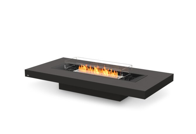 Gin 90 (Low) Fire Table - Ethanol / Graphite / Optional Fire Screen by EcoSmart Fire
