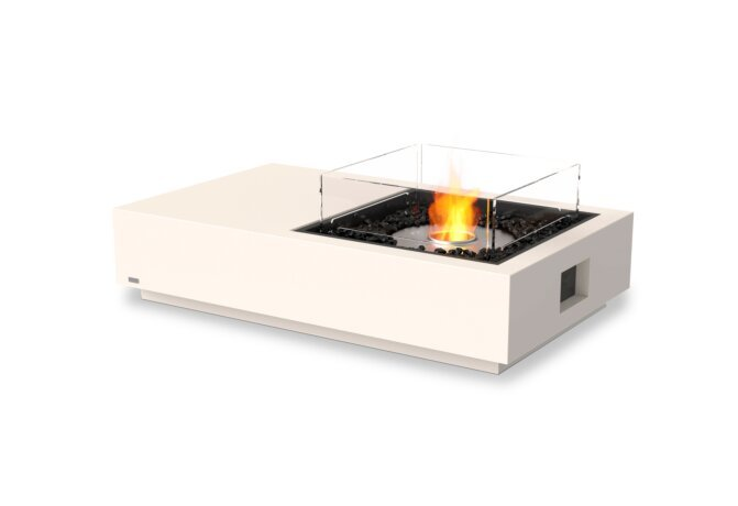 Manhattan 50 Fire Table - Ethanol / Bone / Optional Fire Screen by EcoSmart Fire
