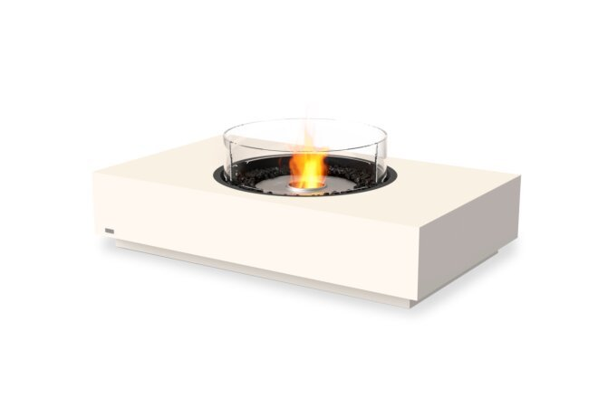Martini 50 Fire Table - Ethanol / Bone / Optional Fire Screen by EcoSmart Fire