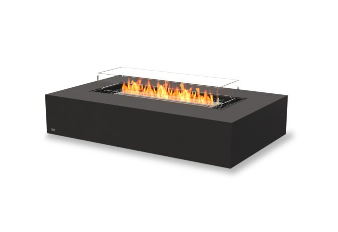 Wharf 65 Fire Table - Ethanol / Graphite / Optional Fire Screen by EcoSmart Fire