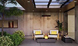 Courtyard Residential Fireplaces Fire Table Idea