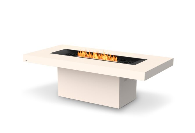 Gin 90 (Dining) Fire Table - Ethanol - Black / Bone / Optional Fire Screen by EcoSmart Fire