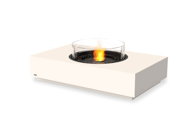 Martini 50 Fire Table - Ethanol - Black / Bone / Optional Fire Screen by EcoSmart Fire