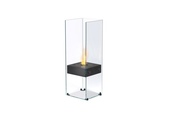Ghost Designer Fireplace - Ethanol / Black / Optional Log Set by EcoSmart Fire