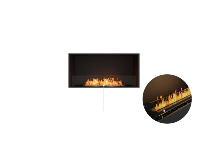 Flex 42SS Single Sided - Ethanol - Black / Black / Installed View by EcoSmart Fire