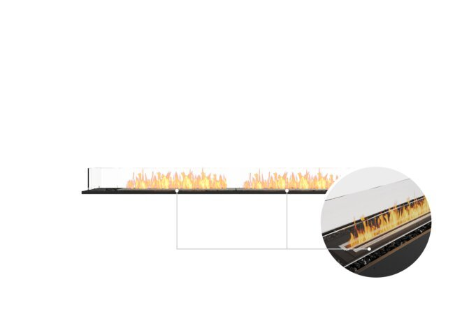 Flex 86BN Bench - Ethanol - Black / Black / Installed View by EcoSmart Fire