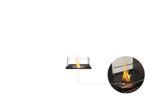 Flex 18BN Bench - Ethanol - Black / Black / Installed View by EcoSmart Fire