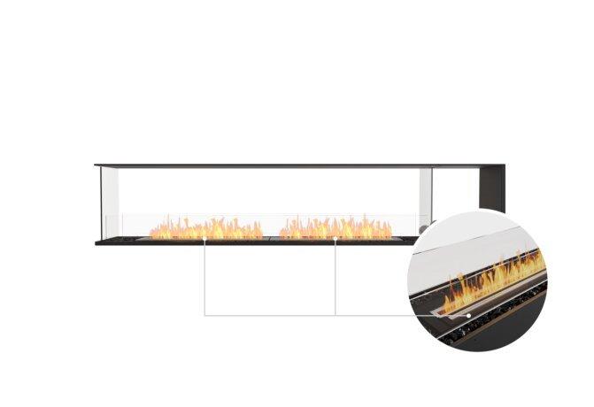 Flex 104PN.BXR Peninsula - Ethanol - Black / Black / Installed View by EcoSmart Fire