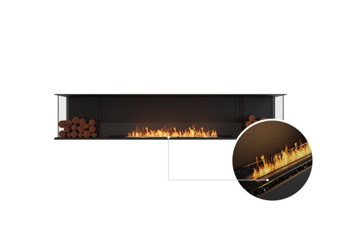 Flex 104 - Ethanol - Black / Black / Installed View by EcoSmart Fire