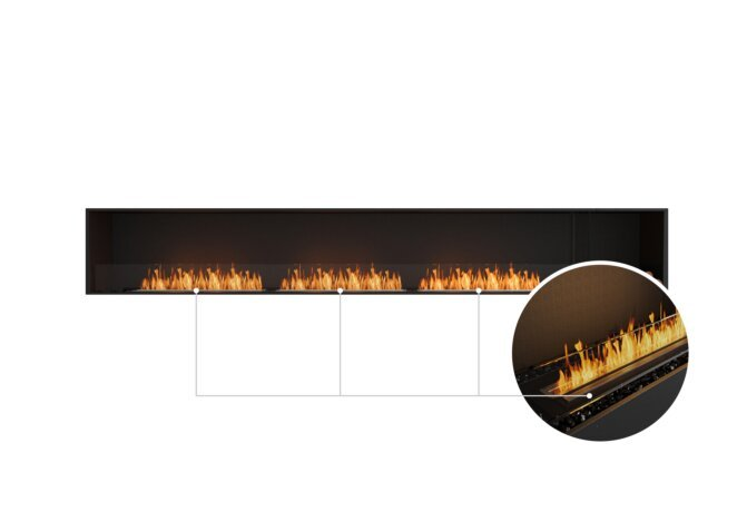 Flex 140SS.BXR Single Sided - Ethanol - Black / Black / Installed View by EcoSmart Fire