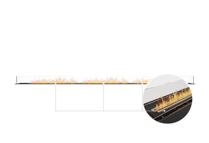 Flex 158BN Bench - Ethanol - Black / Black / Installed View by EcoSmart Fire