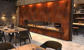 Restaurant Setting See-Through Fireplaces Flex Sery Idea