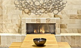 EcoOutdoor Single Sided Fireboxes Built-In Fire Idea