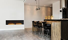 Kitchen Area Indoor Fireplaces Built-In Fire Idea