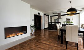 Dining Area Indoor Fireplaces Flex Sery Idea