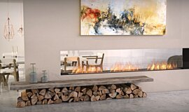 Lounge Area See-Through Fireplaces Flex Sery Idea