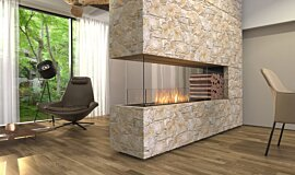Living Area Residential Fireplaces Built-In Fire Idea