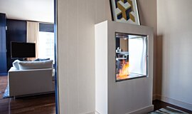 W Residence  Indoor Fireplaces Built-In Fire Idea