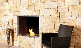 EcoOutdoor Indoor Fireplaces Built-In Fire Idea