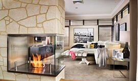 C Fire Indoor Fireplaces Built-In Fire Idea