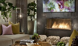 Dream House Single Sided Fireboxes Built-In Fire Idea