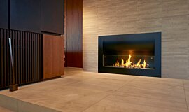 Private Residence Single Sided Fireboxes Curved Sery Idea