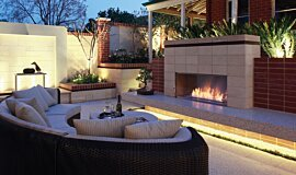 Private Residence Single Sided Fireboxes Built-In Fire Idea