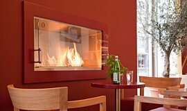 Vapiano, UK Single Sided Fireboxes Built-In Fire Idea