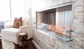W Residence Single Sided Fireboxes Built-In Fire Idea
